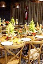 decoração de mesa para o Natal
